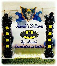 Batman Decor Lego Batman Birthday, Batman Party, Superhero Party, Birthday Fun, Batman And Batgirl, Baby Batman, Balloon Arrangements, Balloon Decorations, Superhero Balloons