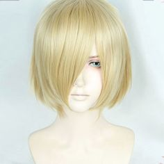 Anime Yuri!!! on Ice Plisetsky Yuri Cospaly Wigs Short Blonde Synthetic Hair Peruca COS Wig ** Click the image to visit the website