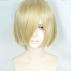 Anime Yuri!!! auf Eis Plisetsky Yuri Cospaly Perücken Kurze Blonde Synthetische Haar Peruca COS Perücke
