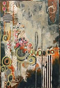 """""""Magic Happens"""" by Jennifer Drummond Ferris, Mixed Media, 36"""" x 24"""", available at Burton Gallery, $795"""