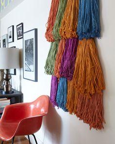 Mop Head Wall Art - http://www.sweetpaulmag.com/crafts/mop-head-wall-art #sweetpaul
