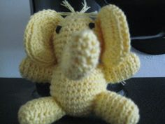 Alexander the Baby Elephant in yellow color