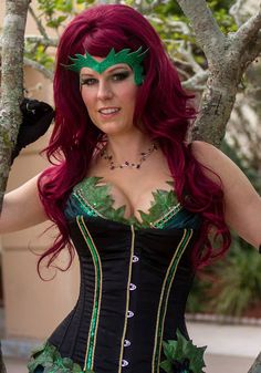 Poison+Ivy+corset+ball+gown+cosplay+costume+by+threemusesclothing,+$300.00