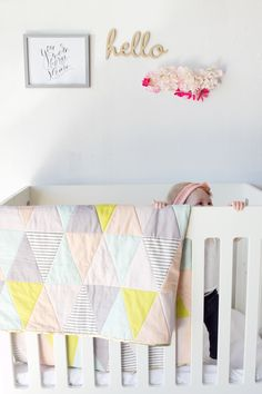 One Hour Triangle Quilt DIY