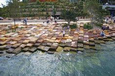 Barangaroo Reserve. Designed by Peter Walker and Partners Landscape Architecture (PWP), in association with Sydney-based Johnson Pilton Walker Architects and Landscape Architects #LandscapeArquitecture