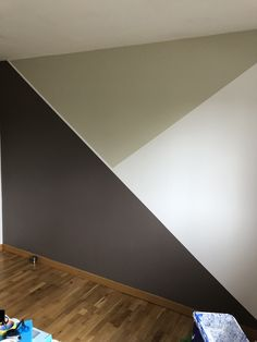 Bedroom Wall Designs, Accent Wall Bedroom, Room Ideas Bedroom, Bedroom Decor, Room Wall Colors, Bedroom Colors, Home Room Design, House Design, Boy Room Paint