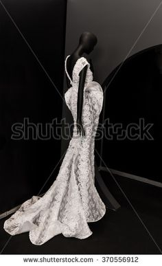 exclusive wedding dress on mannequin