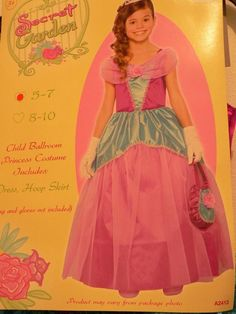 PrincessHalloween Costume  Iris Secret Garden Ballroom sz 8 Girl  Dress Hoop NWT #Seasons #CompleteCostume