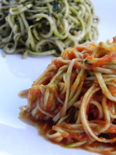 Raw pasta and marinara sauce--a must-try for summer!   @theblissfulchef