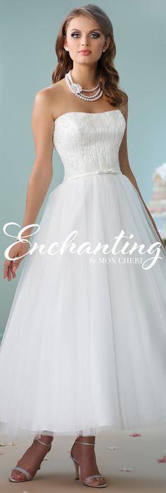 Enchanting by Mon Cheri Spring 2016 ~Style No. 116141 #shortweddingdress