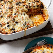 Mexican Black Bean Lasagna #recipes #cooking #dinners