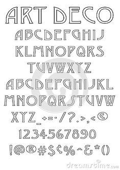 Art Deco Font Stock Photos - Image: 30230083