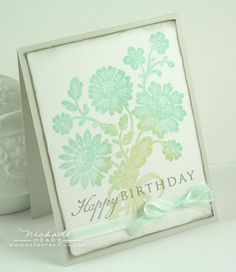 Smitten with the blues and greens in this card.