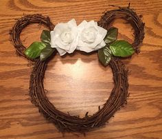 Disney Wedding Wreath ..I love this idea!