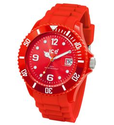 156199647cc7 Ice-Watch SIRDUS09 Unisex Sili Forever Quartz Plastic Red Silicon Rubber  Strap Watch Casual Watches