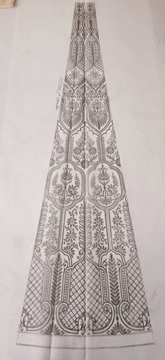 Border Embroidery Designs, Embroidery Motifs, Beaded Embroidery, Machine Embroidery, Motif Design, Design Elements, Pattern Design, Fashion Illustration Dresses, Collar Pattern