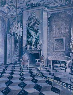 "Saatchi Online Artist: Kris Krohn; Oil, 2004, Painting ""Rosenkavalier Light"""