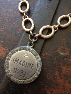 IMAGINE Vintage Gold Chain Necklace  on Etsy, $42.00