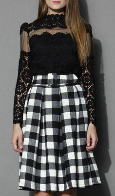 Flower Dance Mesh Crochet Black Top...Not with that particular skirt