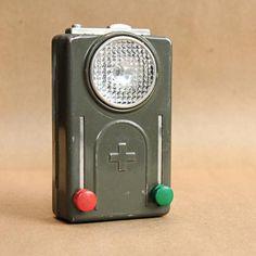 Vintage Swiss Army flashlight. Love it.