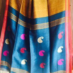 Linen #Saree#Jamdani