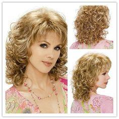 Curly Blonde Hairdos For Short Hair, Haircuts For Medium Hair, Blonde Haircuts, Curly Hair Cuts, Permed Hairstyles, Wavy Hair, Short Hair Cuts, Medium Hair Styles, Curly Hair Styles