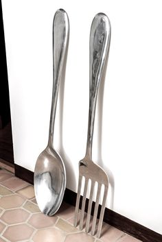 Spoon And Fork Wall Decor big wood spoon and fork wall decor for your kitchenjigsawjoe