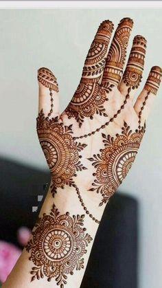 Henna Hand Designs, Mehndi Designs Finger, Henna Flower Designs, Pretty Henna Designs, Henna Tattoo Designs Simple, Latest Bridal Mehndi Designs, Full Hand Mehndi Designs, Mehndi Designs 2018, Mehndi Designs For Girls