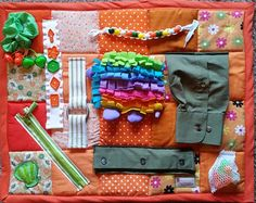 Busy Garden Girl Fidget Quilt Tactile Bright by EndearingDignite