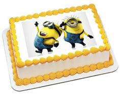 pics of despicable me sheet cakes | Despicable Me2 Minion Personalized edible image, cake topper ...