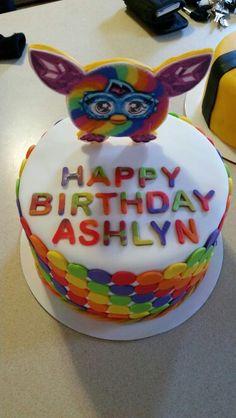 Rainbow Furby Birthday Cake, Birthday Parties, Rainbows, Party Themes, Cakes, Desserts, Diy, Ideas, Food