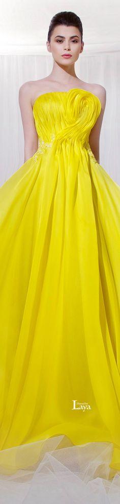 TAREK SINNO S/S 2014 COUTURE   ❤︎† Yellow Essence    https://www.pinterest.com/sclarkjordan/yellow-essence/