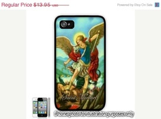 Saint St Michael Archangel Painting Photo iPhone 4 4S by BlingSity, $11.86