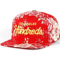 The Hundreds Team Snapback Hat (Red) $29.95