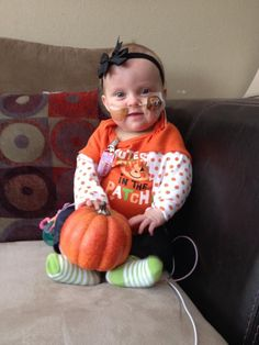 Keep praying for Madelyn. Cutest pumpkin in the patch