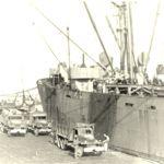 Una nave da carico a Berth 65 N Livorno Italia