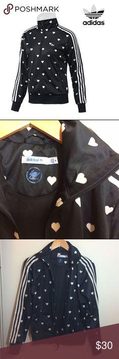 [ADIDAS ORIGINALS] graphics Firebird Track Jacket [ADIDAS ORIGINALS] Women's Graphics Firebird Track Jacket /black/ hearts [MEDIUM] <GREAT CONDITION> Adidas Jackets & Coats