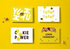Brand New: New Logo, Identity, and Packaging for Chomptown Cookies by Ptarmak - - Healthy Logo Design, Web Design, Poster Design, Identity Design, Brand Identity, Graphic Design, Visual Identity, Print Design, Design Ideas