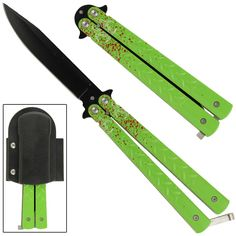 Sporting a black clip point blade, the slim build and good weight of this balisong butterfly knife delivers nice action in an attractive package. Swiss Army Pocket Knife, Best Pocket Knife, Tactical Pocket Knife, Tactical Gear, Frank And Beans, Knife Stand, Butterfly Knife, Engraved Pocket Knives, Case Knives