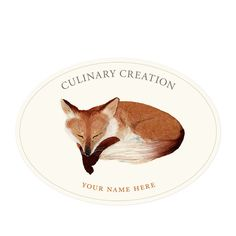 Sleeping In - Oval Kitchen Labels