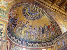 Apse mosaic | Basilica of Our Lady in Trastevere, Rome Italy