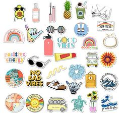 VSCO Stickers for Hydro Flask Girls Stuff Cute Waterproof Trendy Stickers for Teens for Waterbottle Laptop Phone Travel Extra Durable 100 Vinyl 35 Pack Stickers Cool, Cute Laptop Stickers, Cartoon Stickers, Tumblr Stickers, Printable Stickers, Luggage Stickers, Homemade Stickers, Waterproof Stickers, Aesthetic Stickers