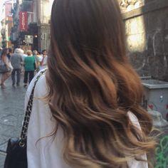 Hair wavy ombre goals. #hairgoals. Bronde inspiration ideas. #bronde #ombrehair #ombre #wavyhair