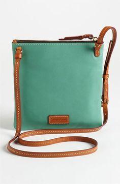 Dooney Bourke Triple Zip Leather Crossbody Bag