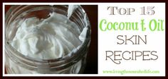 Coconut oil is one of my favorite food-based skin and beauty products, and I've compiled a list of 15 awesome coconut oil skin recipes that you can try! There are recipes for deodorant, skin scrub, moisturizer, shampoo bars, face cream, mascara, eye liner and more.