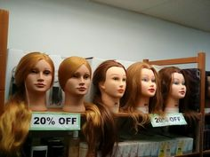 Mannequin head 20 % OFF!🔥🔥 come and check it out! Alamo Heights, Mannequin Heads, 20 Off, Beauty Industry, Styling Tools, Beauty Supply, Barbershop, Beauty Care, Haircolor