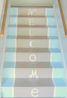 Love these painted stairs/steps.