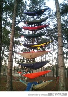 This would be intresting i have to say i would try this  but only once!! and i would be  on the tip top so if i fall all these people will be my cushion ahahaha i have always a plan  in case of failure TAKE THEM ALL OUT!!!
