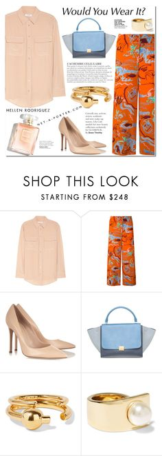 """""""PaGe 09/05"""" by lali22 ❤ liked on Polyvore featuring Equipment, Aspesi, Gianvito Rossi, KAROLINA, CÉLINE, Maria Black and Givenchy"""