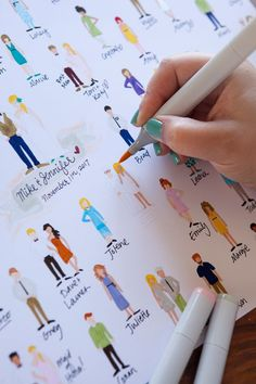 "Print this adorable, colorable (and did we mention FREE) ""guests"" guest book! #craftywithcanon"